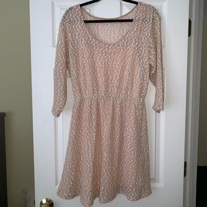 Urban outfitter pink sparkly sweater dress